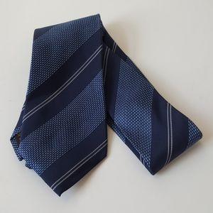 Tasso Ebla 100% silk Blue and black tie EUC